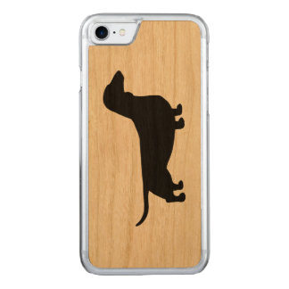 Dachshund Silhouette Carved iPhone 7 Case