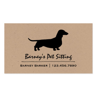 Dachshund Silhouette Double-Sided Standard Business Cards (Pack Of 100)