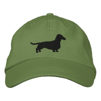 Dachshund Silhouette Embroidered Baseball Cap