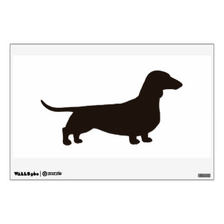Dachshund Silhouette - Facing Right Wall Decal