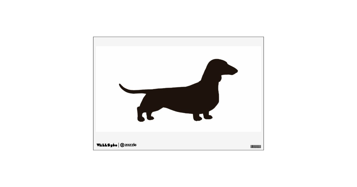 Dachshund Silhouette Facing Right Wall Decal Zazzle Com