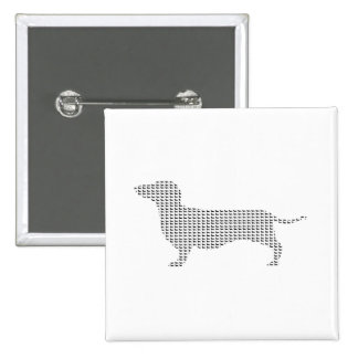 Dachshund Silhouette From Many Button