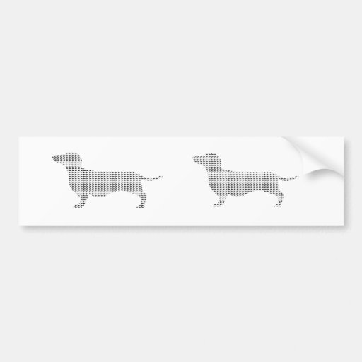 Dachshund Silhouette From Many Car Bumper Sticker