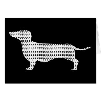 Dachshund Silhouette From Many Card