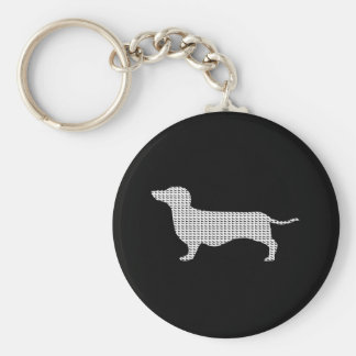 Dachshund Silhouette From Many Keychain