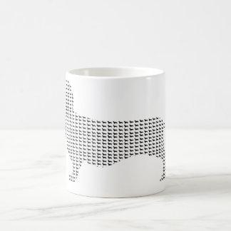 Dachshund Silhouette From Many Classic White Coffee Mug