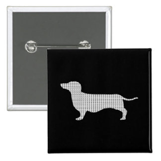 Dachshund Silhouette From Many Pinback Button