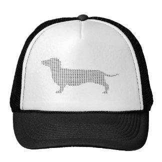 Dachshund Silhouette From Many Trucker Hat