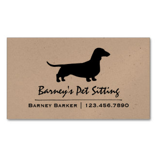 Dachshund Silhouette Magnetic Business Card