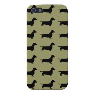 Dachshund Silhouette Pattern on any color Case For iPhone SE/5/5s