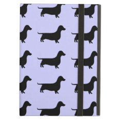 Dachshund Silhouette Pattern On Any Color Ipad Air Case at Zazzle