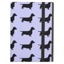 Dachshund Silhouette Pattern on any color iPad Air Cover