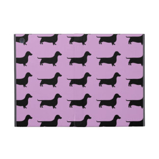 Dachshund Silhouette Pattern on any color iPad Mini Cases