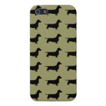 Dachshund Silhouette Pattern on any color iPhone 5 Cases