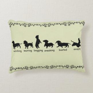 Dachshund Silhouette Pillow