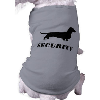 Dachshund Silhouette - SECURITY Dog Tee