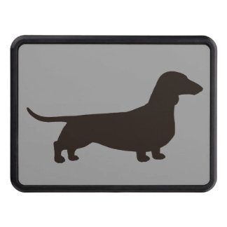 Dachshund Silhouette - Short Haired Wiener Dog Tow Hitch Cover