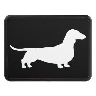 Dachshund Silhouette - Short Haired Wiener Dog Trailer Hitch Cover