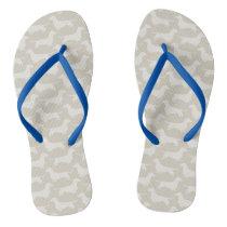 Dachshund Silhouettes Pattern Flip Flops