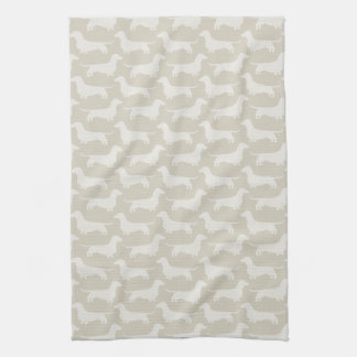 Dachshund Silhouettes Pattern Hand Towel