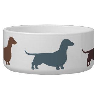 Dachshund Silhouettes Dog Food Bowls