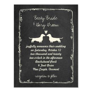 Dachshund Silhouettes Wedding Card