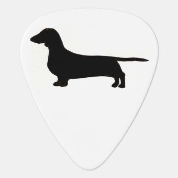 Dachshund Silo Black.png Guitar Pick by BreakoutTees at Zazzle
