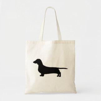 dachshund silo black.png tote bag