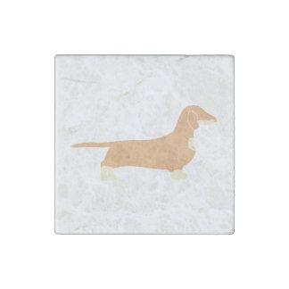 dachshund silo fawn and cream stone magnet