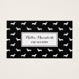 Dachshund simple business card - dog card