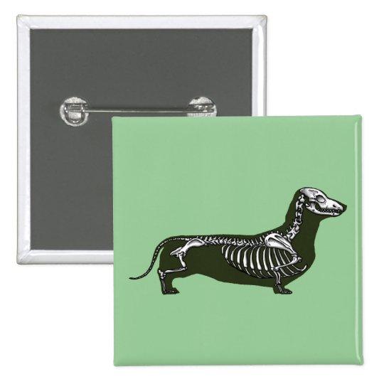 dachshund skeleton button