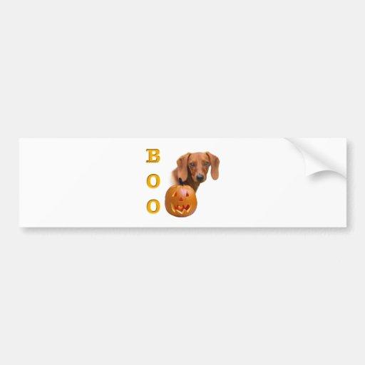 Dachshund (smooth) Boo Bumper Sticker