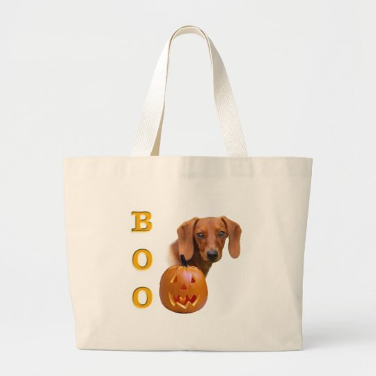 Dachshund (smooth) Boo Large Tote Bag