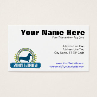 Dachshund [smooth] business card