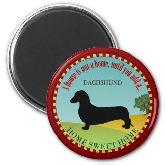 Dachshund [Smooth] 2 Inch Round Magnet