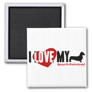 Dachshund [Smooth] 2 Inch Square Magnet