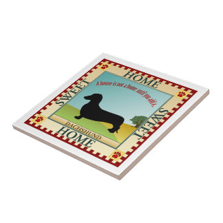 Dachshund [Smooth] Small Square Tile