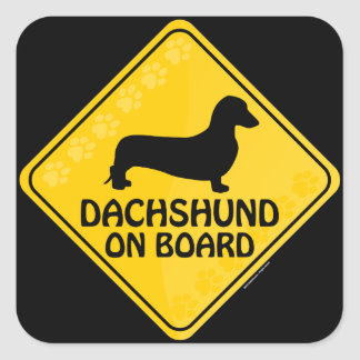 Dachshund [smooth] Xing Square Sticker