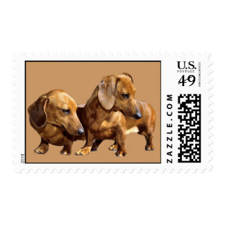 Dachshund Smoothies Postage Stamp