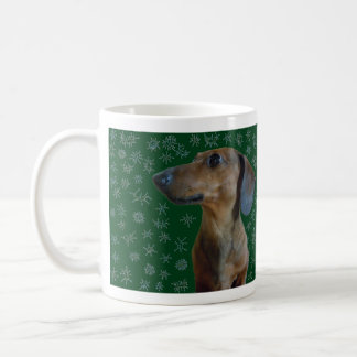 Dachshund Snow Coffee Mug