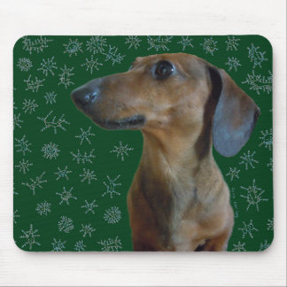 Dachshund Snow Mouse Pad