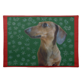 Dachshund Snow Placemat