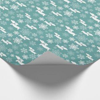 Dachshund Snowflakes Christmas Gift Wrap