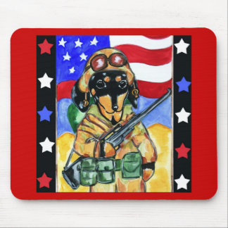 Dachshund Soldier Mouse Pad