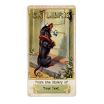 Dachshund Special Delivery - Book Plate ID Shipping Label
