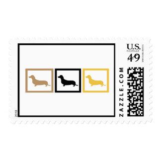 Dachshund Squares Stamp