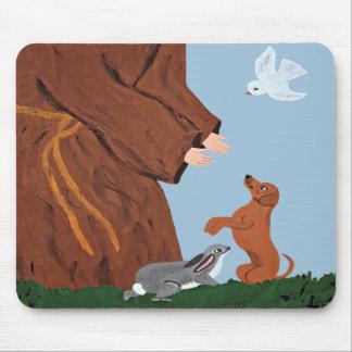 Dachshund & St. Francis Mousepad