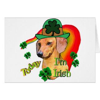 Dachshund St Patricks Card