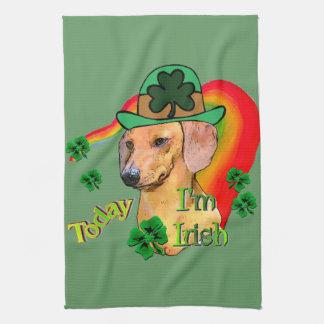 Dachshund St Patricks Hand Towel