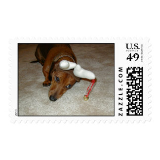 Dachshund stamp - Reluctant reindeer